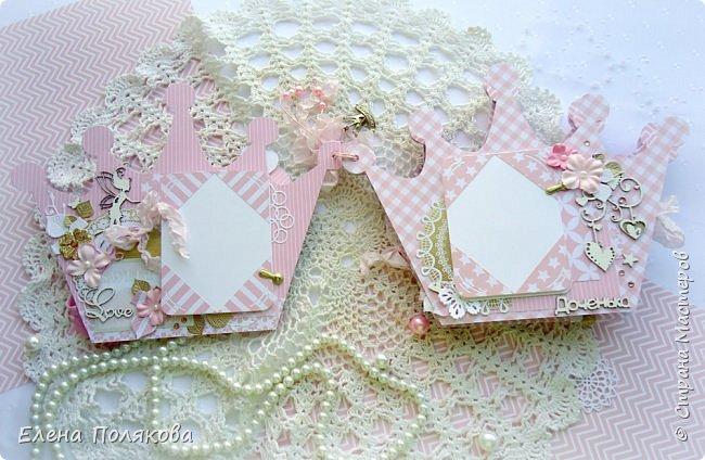 Добрый день! Сегодня я покажу мини-альбом для принцессы,  которая живет в розовой сказочной стране, где царит любовь, цветут золотые цветы и порхают феечки. фото 3