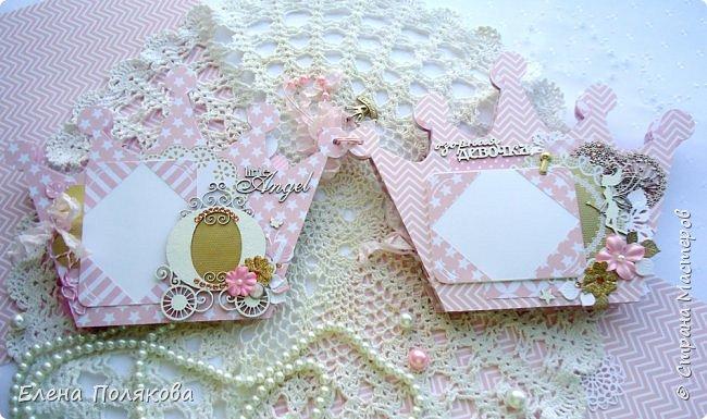Добрый день! Сегодня я покажу мини-альбом для принцессы,  которая живет в розовой сказочной стране, где царит любовь, цветут золотые цветы и порхают феечки. фото 6