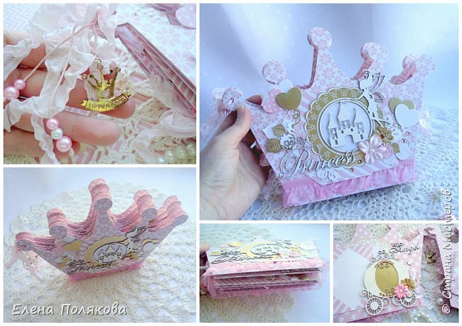 Добрый день! Сегодня я покажу мини-альбом для принцессы,  которая живет в розовой сказочной стране, где царит любовь, цветут золотые цветы и порхают феечки. фото 18