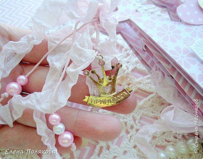 Добрый день! Сегодня я покажу мини-альбом для принцессы,  которая живет в розовой сказочной стране, где царит любовь, цветут золотые цветы и порхают феечки. фото 19
