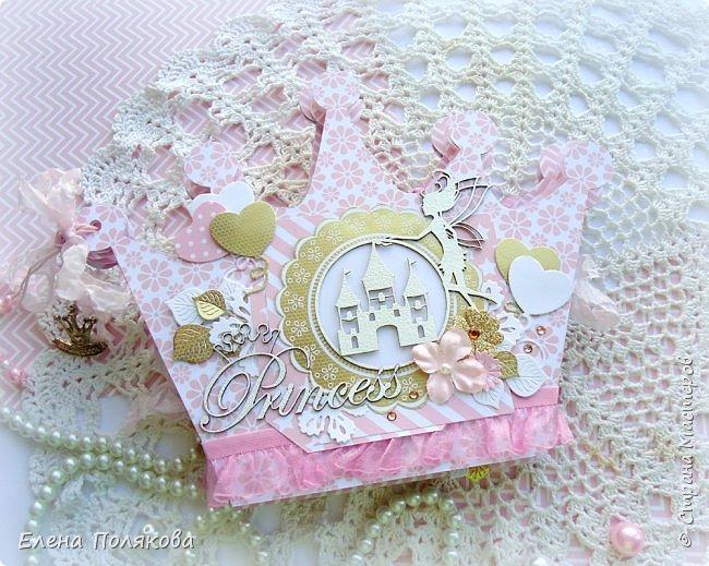 Добрый день! Сегодня я покажу мини-альбом для принцессы,  которая живет в розовой сказочной стране, где царит любовь, цветут золотые цветы и порхают феечки. фото 20