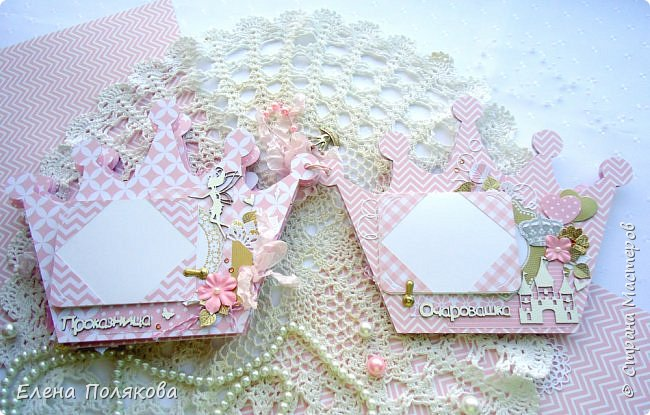 Добрый день! Сегодня я покажу мини-альбом для принцессы,  которая живет в розовой сказочной стране, где царит любовь, цветут золотые цветы и порхают феечки. фото 12