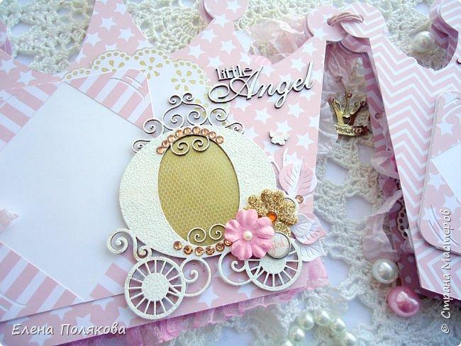 Добрый день! Сегодня я покажу мини-альбом для принцессы,  которая живет в розовой сказочной стране, где царит любовь, цветут золотые цветы и порхают феечки. фото 7