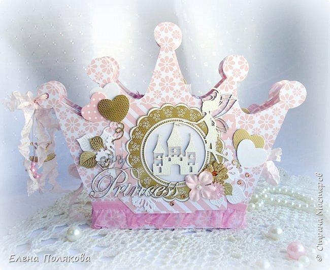 Добрый день! Сегодня я покажу мини-альбом для принцессы,  которая живет в розовой сказочной стране, где царит любовь, цветут золотые цветы и порхают феечки. фото 1