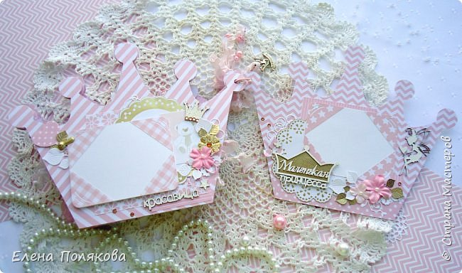 Добрый день! Сегодня я покажу мини-альбом для принцессы,  которая живет в розовой сказочной стране, где царит любовь, цветут золотые цветы и порхают феечки. фото 15