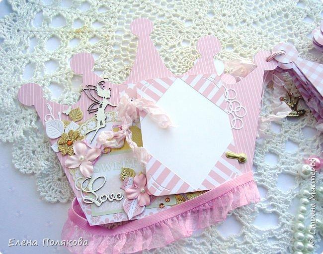 Добрый день! Сегодня я покажу мини-альбом для принцессы,  которая живет в розовой сказочной стране, где царит любовь, цветут золотые цветы и порхают феечки. фото 4