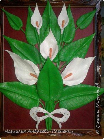 Кому интересно как сделать цветы из кожи предлагаю данный МК. фото 11