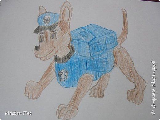 """Всем привет! Сдаю работу на конкурс """"Мой любимый фильм"""" (http://stranamasterov.ru/node/1011378) Это пёс Гонщик из мультфильма """"Щенячий патруль"""". Он спешит на помощь! фото 2"""