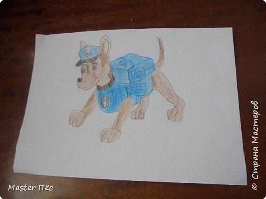 """Всем привет! Сдаю работу на конкурс """"Мой любимый фильм"""" (http://stranamasterov.ru/node/1011378) Это пёс Гонщик из мультфильма """"Щенячий патруль"""". Он спешит на помощь! фото 1"""