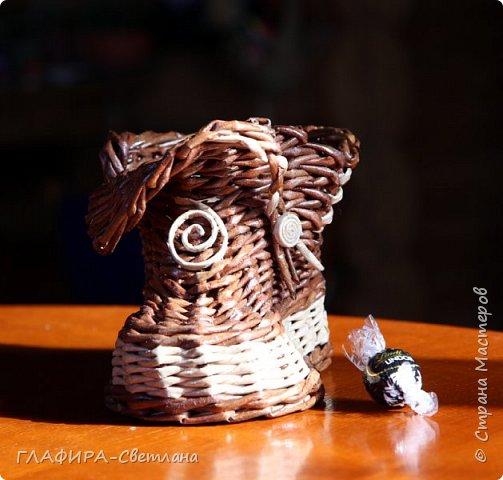 Плетёные изделия, комбинированные с декупажем фото 8