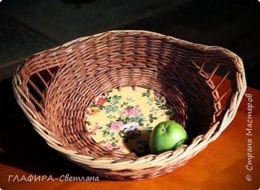 Плетёные изделия, комбинированные с декупажем фото 6