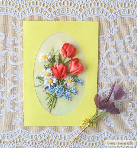 """Открытка """"Весенние цветы"""" фото 4"""