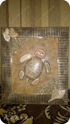Всем доброго времени суток! Спасибо тем людям, которые делятся своими идеями, превращая обычные морские камни в картины. С отдыха на море всегда привозим морскую гальку, но она лежит и ждет своего часа. Хочу поблагодарить Ихтиандру за ее черепашку!!! http://stranamasterov.ru/node/380482?c=favorite зацепило, вдохновило!!! И вот что получилось... фото 2