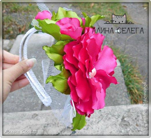 МК большой цветок на ободке и поясе / МК Алина Селега  фото 3