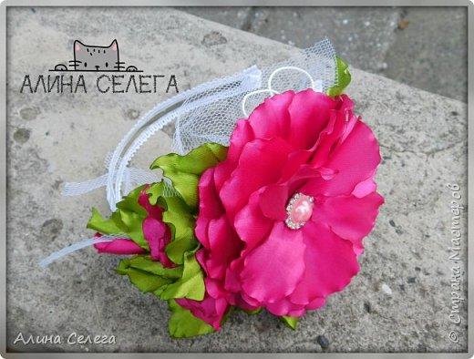 МК большой цветок на ободке и поясе / МК Алина Селега  фото 1