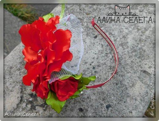 МК большой цветок на ободке и поясе / МК Алина Селега  фото 7