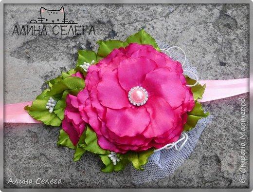 МК большой цветок на ободке и поясе / МК Алина Селега  фото 4