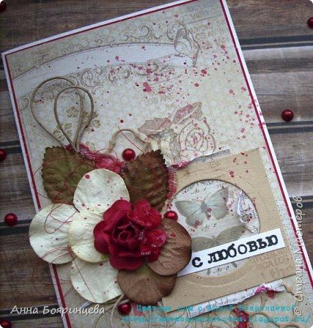 """Всем привет!!!!! Вот такую открыточку я делала для СП """" В ожидании весны"""" фото 2"""