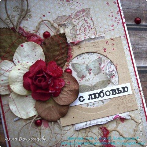 """Всем привет!!!!! Вот такую открыточку я делала для СП """" В ожидании весны"""" фото 4"""