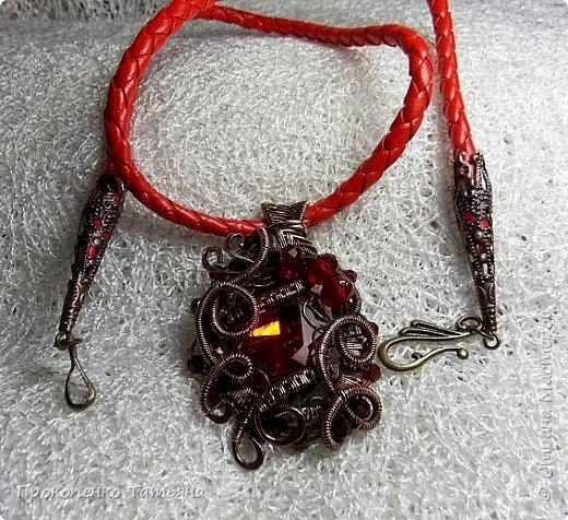 Мои первые украшения в технике Wire Wrap фото 8