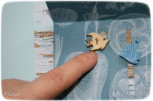 Альбом ручной работы на кольцах для любимых клиентов. Корабль выполнен в технике  3D. Стеклянная бутылочка в которую можно насыпать привезенный с курорта песочек.   фото 8