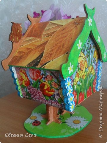 Всем добрый вечер или у кого день!!! Очередной чайный домик из хомячих запасов(осталось немножко) фото 7