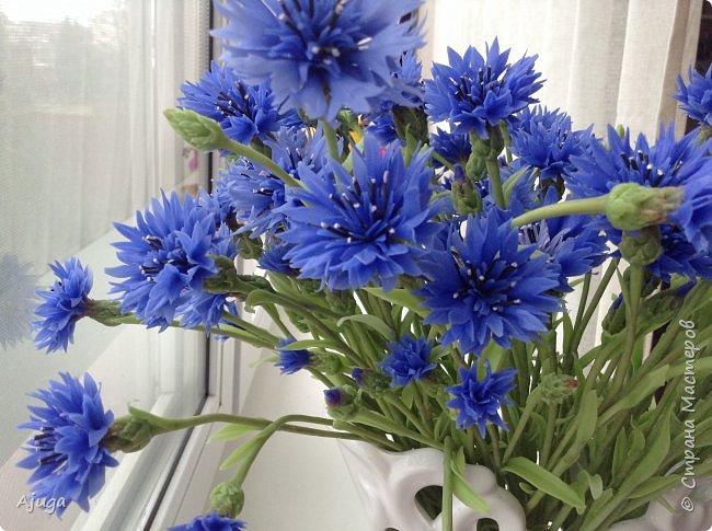 Васильки для  букета полевых цветов. Ручная работа. Хф. фото 1