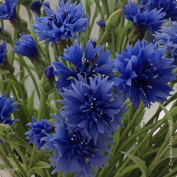Васильки для  букета полевых цветов. Ручная работа. Хф. фото 2