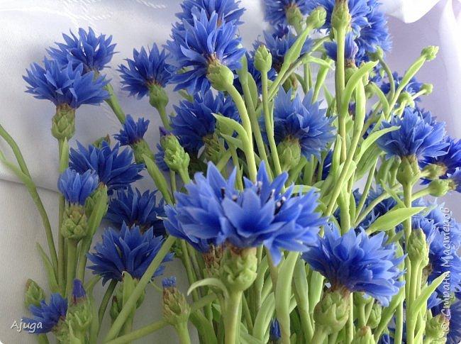 Васильки для  букета полевых цветов. Ручная работа. Хф. фото 12