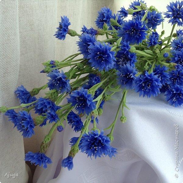 Васильки для  букета полевых цветов. Ручная работа. Хф. фото 15