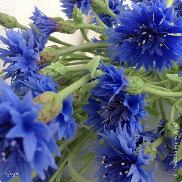 Васильки для  букета полевых цветов. Ручная работа. Хф. фото 18