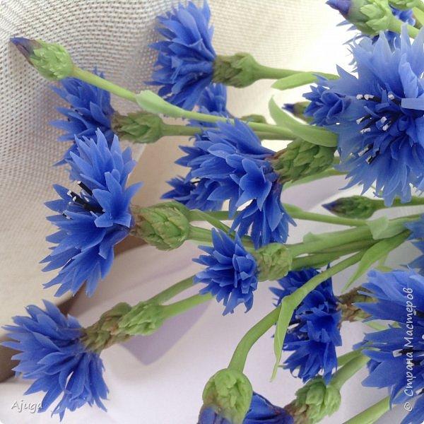 Васильки для  букета полевых цветов. Ручная работа. Хф. фото 19