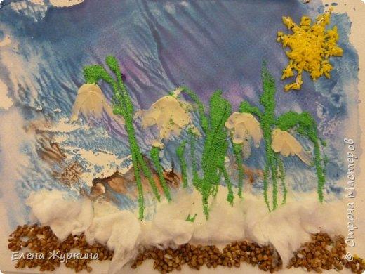 В нашей Арт-студии уже появились первые подснежники! Встречаем долгожданную весну! Аликова Таисия 3,8. фото 1