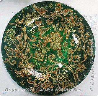 Яркая, блестящая, весенняя роспись тарелки к празднику. Делается быстро и просто. фото 10