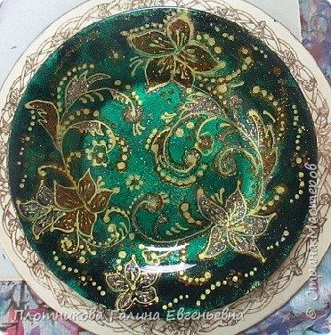 Яркая, блестящая, весенняя роспись тарелки к празднику. Делается быстро и просто. фото 12