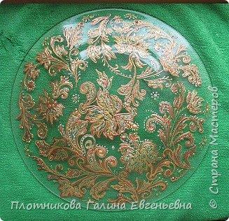 Яркая, блестящая, весенняя роспись тарелки к празднику. Делается быстро и просто. фото 3