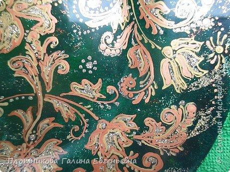 Яркая, блестящая, весенняя роспись тарелки к празднику. Делается быстро и просто. фото 6