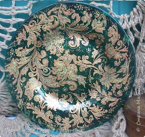 Яркая, блестящая, весенняя роспись тарелки к празднику. Делается быстро и просто. фото 1