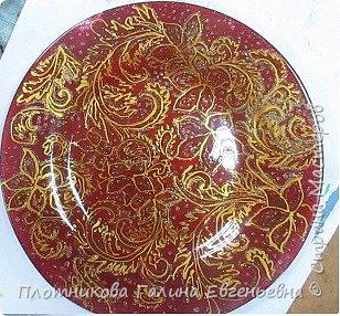 Яркая, блестящая, весенняя роспись тарелки к празднику. Делается быстро и просто. фото 8