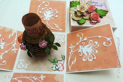 Покажу немного новенького... Коробочка подарочная - упаковка для небольшого подарка  (  или денег)  +  открытка фото 5