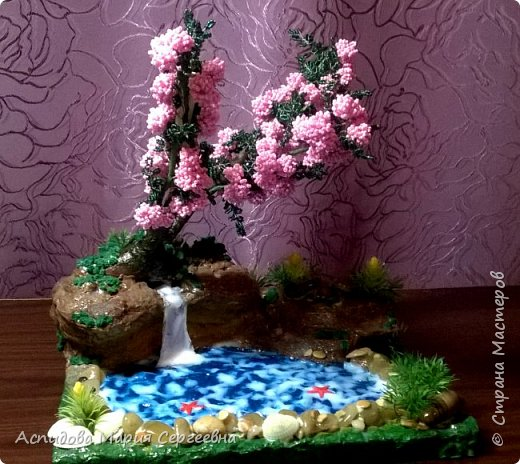 "цветок в горшке ""Немофила"" фото 6"