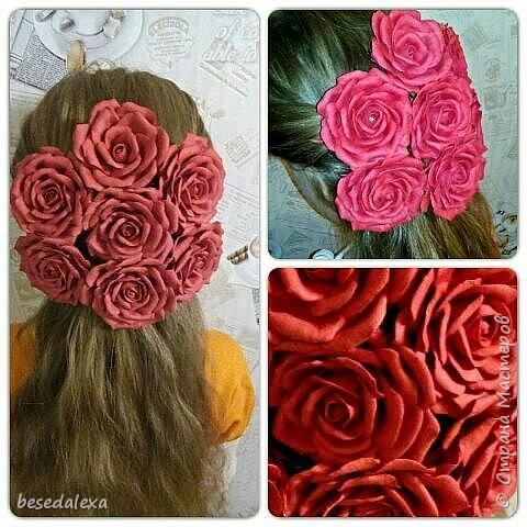 Розы ручной работы фото 4