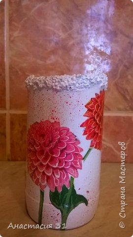 Посмотрев работы мастеров очень захотелось сделать и себе вазочку из такой бутылки фото 18