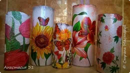 Посмотрев работы мастеров очень захотелось сделать и себе вазочку из такой бутылки фото 19