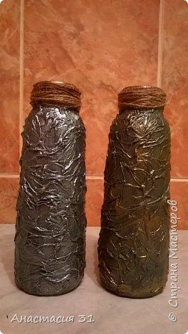 Посмотрев работы мастеров очень захотелось сделать и себе вазочку из такой бутылки фото 21