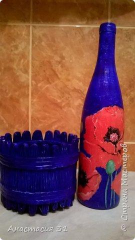 Посмотрев работы мастеров очень захотелось сделать и себе вазочку из такой бутылки фото 26