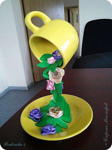"""Парящая кружка с цветами """"Весна""""  фото 2"""