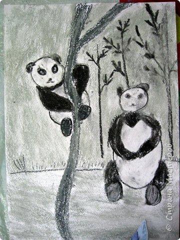 """Мы с детьми попробовали рисовать в новой для них технике и непривычными материалами. Первоначально, когда сказала, что будем рисовать соусом, последовал вопрос: """"каким томатным или майонезным?"""", привыкли видимо к моим экспериментам. Скажу сразу, многим ученикам не понравилось, им не хватало яркости и цвета, кто-то считал, что это как старые фотографии, родители наоборот были в восторге. А теперь уже после нескольких выполненных работ им нравится, """"раскушали"""". Утомлять вас лекцией о технике работы с соусом, углем и мелом, я не буду, в интернете много информации и работ, детям надо предварительно показать работы в этой технике для примера. фото 34"""