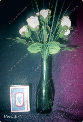 Мини композиция из семи роз. Абсолютно не хотела фотографироваться. фото 6