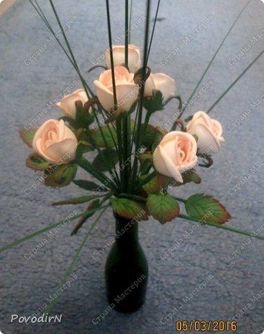 Мини композиция из семи роз. Абсолютно не хотела фотографироваться. фото 8